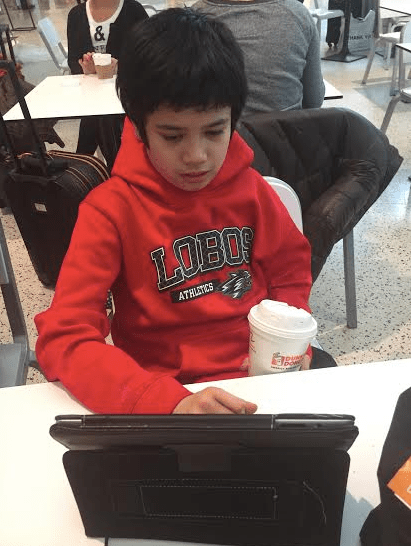 son with autism uses ipad