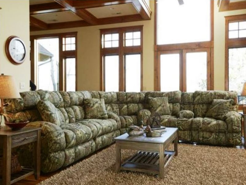Mossy Oak Camo Sectional The Military Club - camo living room furniture