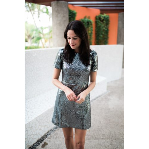 Medium Crop Of Silver Sequin Dress
