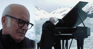 Ludovico Einaudi Performs In The Arctic Ocean As Glaciers Collapse Around Him In This Emotional Video
