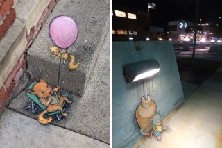 Quirky Chalk Art In The Streets By David Zinn