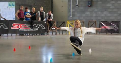 This Girl Does Things On Skates That I Didn't Know Were Possible