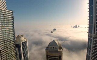 Leap of Faith BASE Jump into Clouds