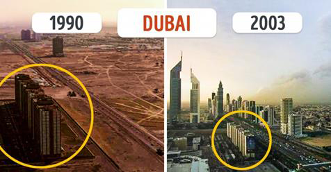 Ten incredible cities which have changed beyond recognition