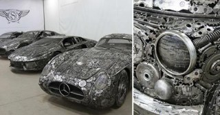 50 Artists Raid a Polish Scrapyard to Build a Collection of Recycled Metal Cars