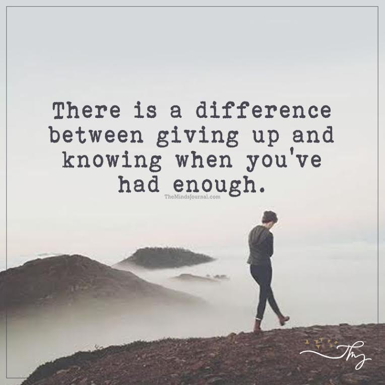 Fail Quotes Wallpaper There Is A Difference Between Giving Up And Knowing The