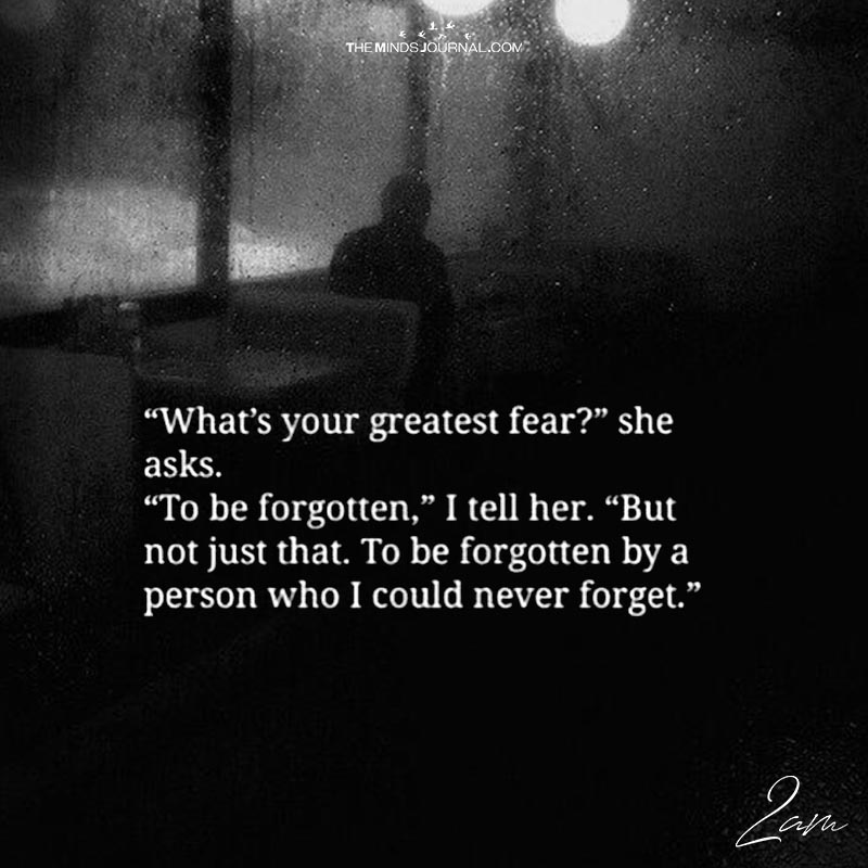 What\u0027s Your Greatest Fear?\