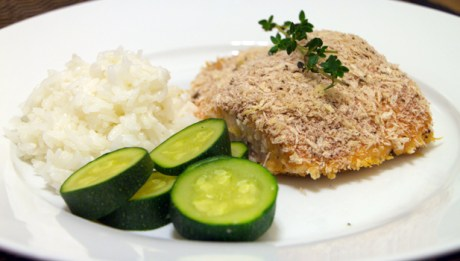 Panko-Crusted Salmon with Honey-Mustard Glaze
