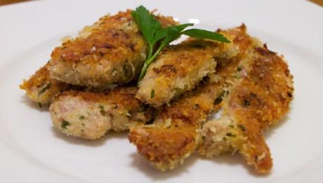 Panko Garlic Chicken Strips