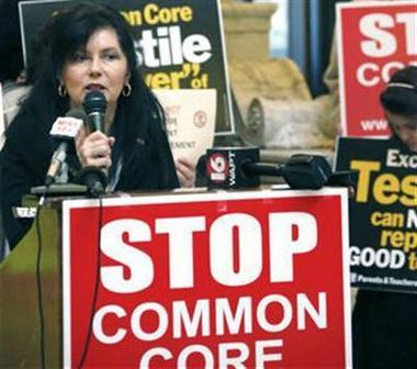 Sen. Angela Burks Hill calls for the legislature to end Mississippi's participation in Common Core at the Capitol in Jackson on Jan. 7, 2014.(AP Photo/Rogelio V. Solis)