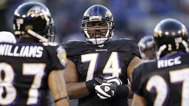 Former Ole Miss star Michael Oher (74) won a Super Bowl with the Baltimore Ravens following the 2012 season. (File, AP photo/Rob Carr)