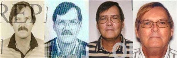This combination of photos provided by the Federal Bureau of Investigation shows William James Vahey in 1986, 1995, 2004 and 2013. Vahey, 64, killed himself in Luverne, Minn. on March 21, 2014. The discovery of Vahey, a man the FBI regards as one of the most prolific pedophiles in memory has set off a crisis in the community of international schools, where parents are being told that their children may have been victims, and administrators are scurrying to close loopholes exposed by Vahey's abuses. (AP Photo/FBI, File)