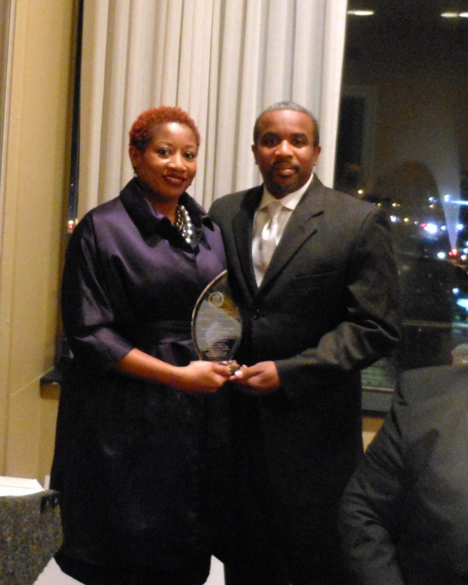 "Dr. Larry J. Nixon and wife, Demetrica ""Dee"" Bookert-Nixon, a nurse, were lauded as Citizens of the Year at the David C. Bass Sr. Achievement Week Gala."