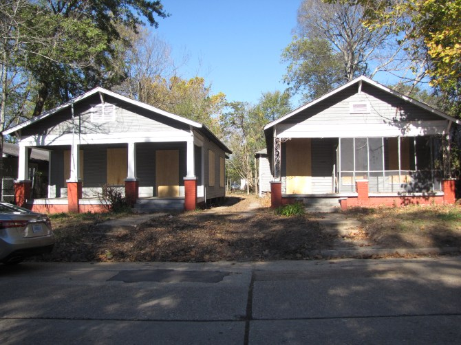 Scott Ford houses at 136 and 138 Cohea St. have been cleaned by workers and Jim Johnston of Revitalize Jackson.