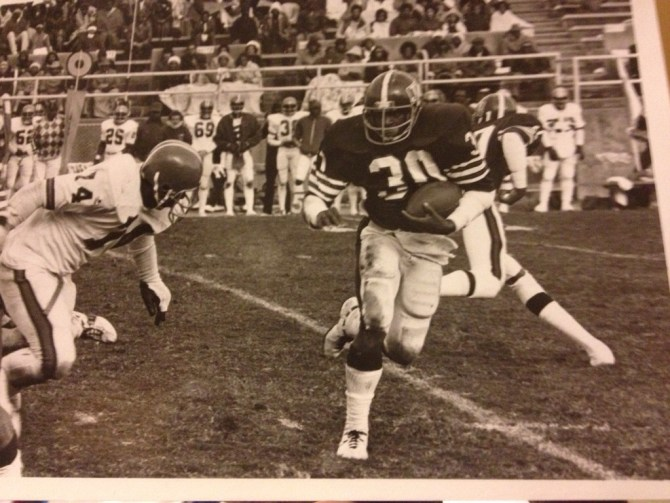 Perry Harrington has been compared to JSU legend Walter Payton. Photo courtesy of Perry Harrington