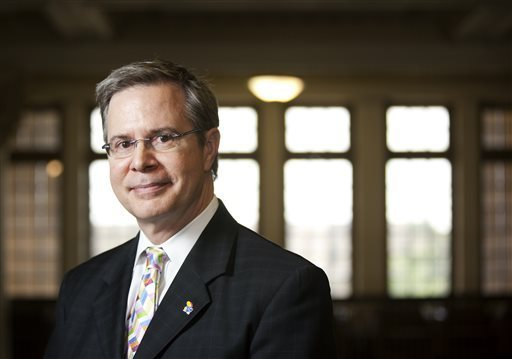 In this photo taken on June 12, 2010, University of Kansas Provost and Executive Vice Chancellor Jeffrey Vitter will take over as the new chancellor at Ole Miss on Jan. 1. Vitter's salary was set at $600,000 Thursday, Dec. 17, 2015 by the College Board. Former Ole Miss Chancellor Dan Jones made $429,000. Nick Krug /The Lawrence Journal-World via AP