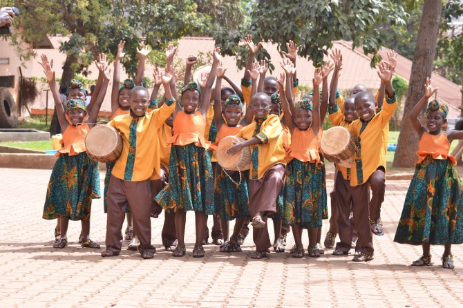 This year's African Children's Choir includes 18 children ages 11 and younger.