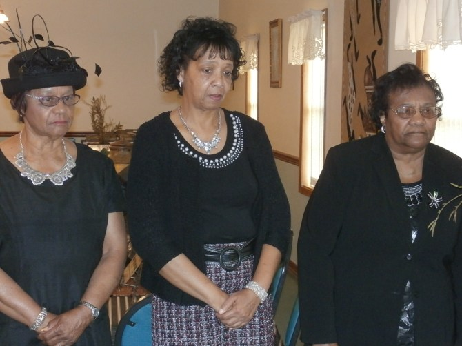 The Eureka Arts Federated Club, a Prentiss unit of the National Association of Colored Women's Clubs, inducted new members Queen Ester Sutton, Minnie Magee and Maxie Laird at a ceremony held Feb. 20. Photos by Natalie Bell