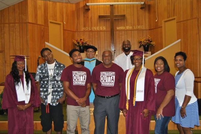 The 2016 graduates of Crossgates M.B. Church, 325 McDowell Road in Jackson, who were honored during the church's recent Baccalaureate Service. The Rev. Stanley Smith (center) is the pastor.