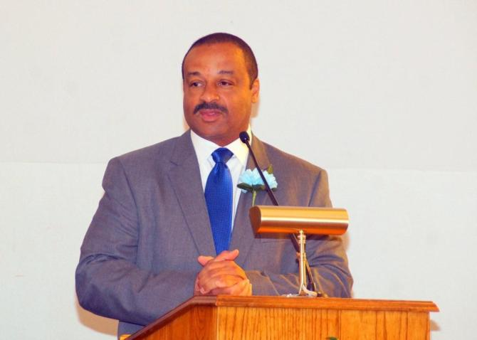 Jackson Police Chief LeeVance gave the keynote address for College Hill M.B. Church's Men's Day Program June 19.