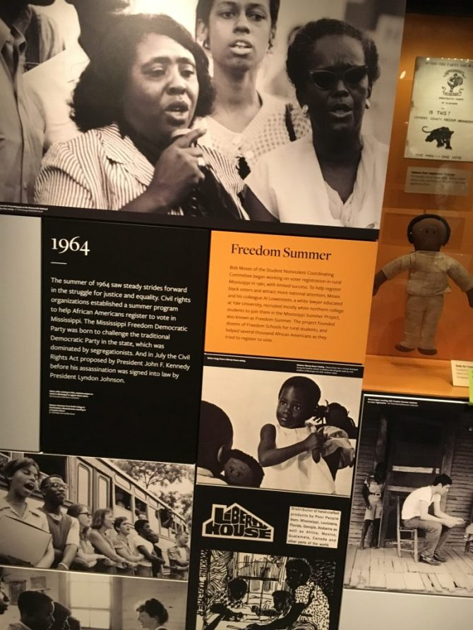 An exhibit of Fannie Lou Hamer working during Freedom Summer is on display. PHOTO BY JACKIE HAMPTON