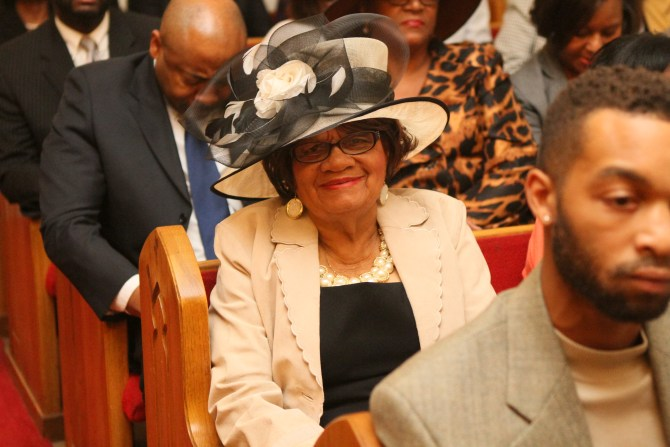 Mary Helen Anderson observes son Gregory Anderson becoming a Deacon