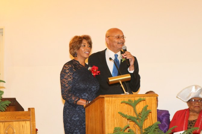 Newly ordained Deacon Calvin Michael and wife Shellie Michael