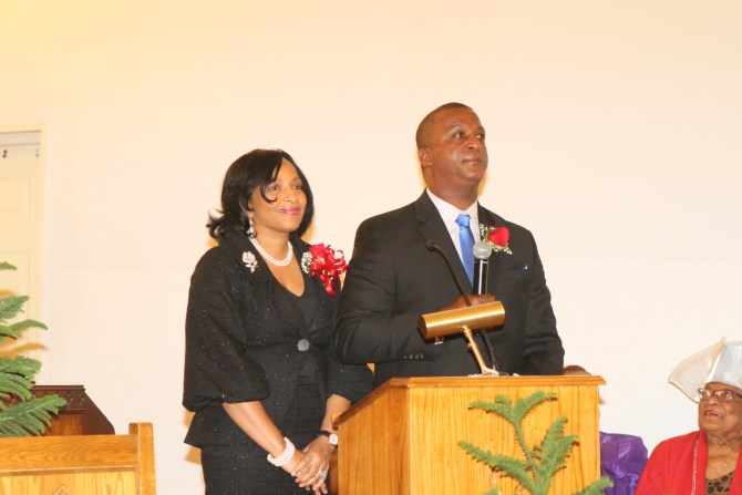 Newly ordained Deacon Vincent McGee and wife Debra McGee