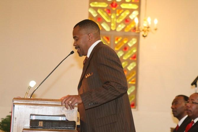 Mt. Nebo Pastor John A. Wicks delivers ordination message