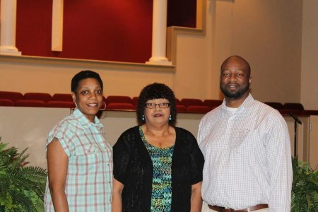 Pictured are (from left) Adrian Murry, Clintoria Johnson and Michael Minor. SUBMITTED PHOTO
