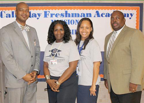 Trammell, Asst. Principal Lisa Moore, Acadamy Coach Tasha Viverette and Dr. Freddrick Murray