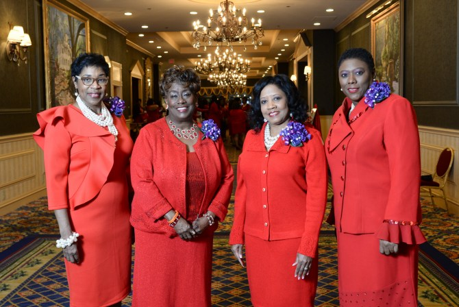 Cheryl Turner, past southern regional director; Paulette C. Walker, national president of Delta Sigma Theta Sorority, Inc.; Denise Griffin-Whittington, president of Jackson (MS) Alumnae Chapter; and Carshena Bailey, Mississippi state coordinator Photos by DArek Ashley