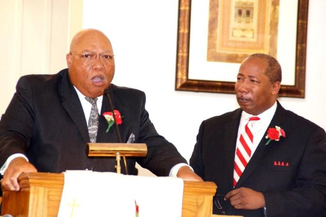 Pastor S.V. Adolph, Gulfport, and College Hill Pastor Micahel Williams