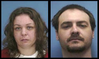 Lisa Jo Chamberlin, (left) and her boyfriend, Roger Lee Gillett, (right) were sentenced to death for killing two people and hiding them in a freezer.