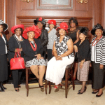 Left to right Corinne Anderson, Wauline Carter, Rita Wray, Terryce Walker, Laverne Gentry, Maggie Terry Harper, Katrina B. Myricks, Lisa Green, Ethel Gibson, A Darby, Brenda Cox