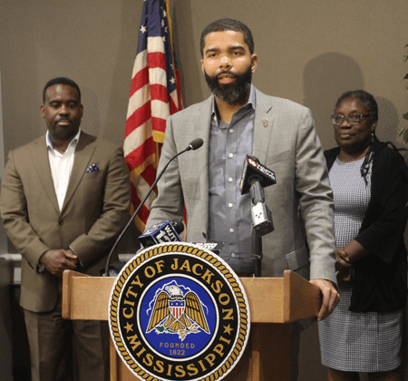 Mayor Chokwe Antar Lumumba announces plan to help improve the Jackson Public School District