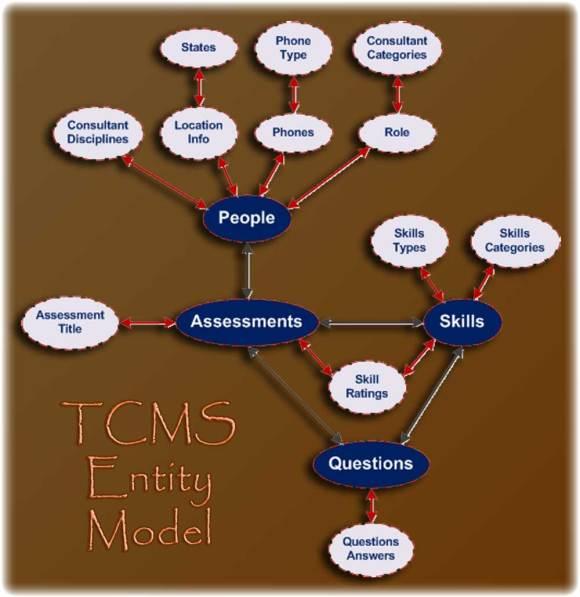 The TCMS Domain Entity Diagram