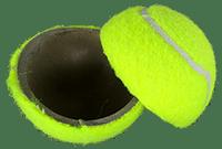 Cut Tennis Ball