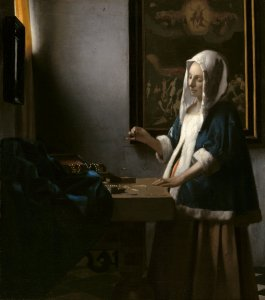 Johannes Vermeer (Dutch, 1632 - 1675 ), Woman Holding a Balance, c. 1664, oil on canvas, Widener Collection 1942.9.97