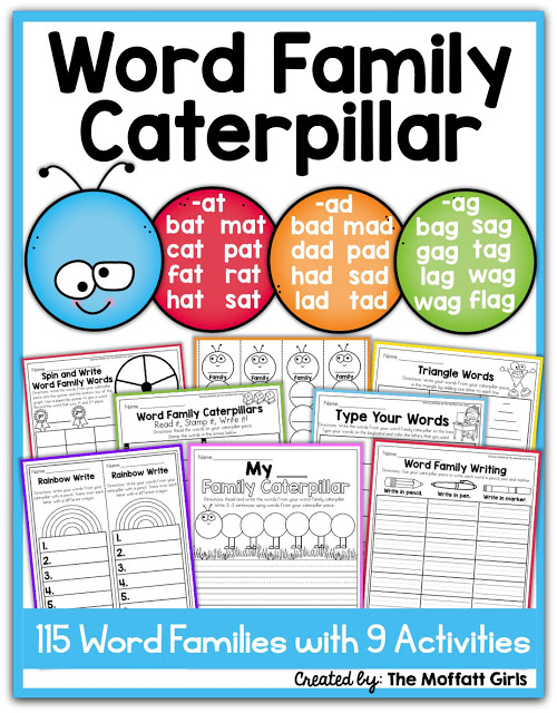 Word Family Caterpillar