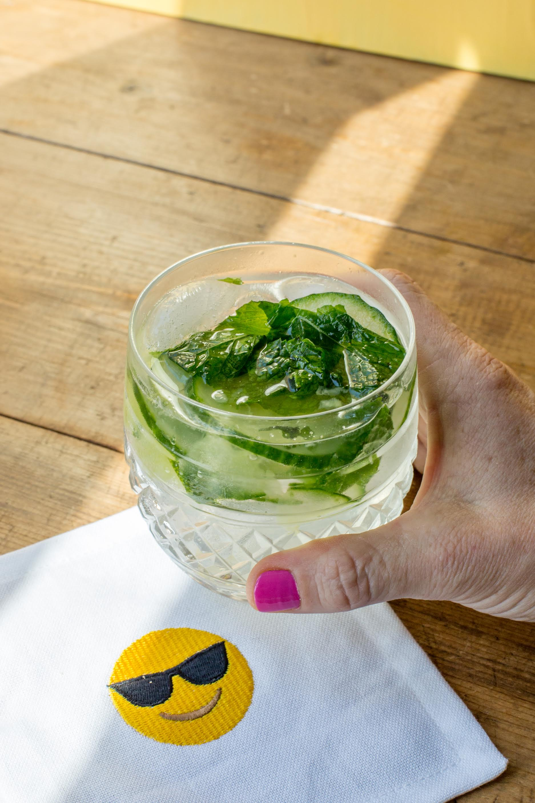 Drink Gin Cucumber Mint Gin And Tonic