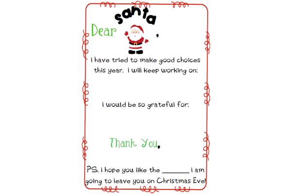 Letter To Santa Template The Mommy Teacher