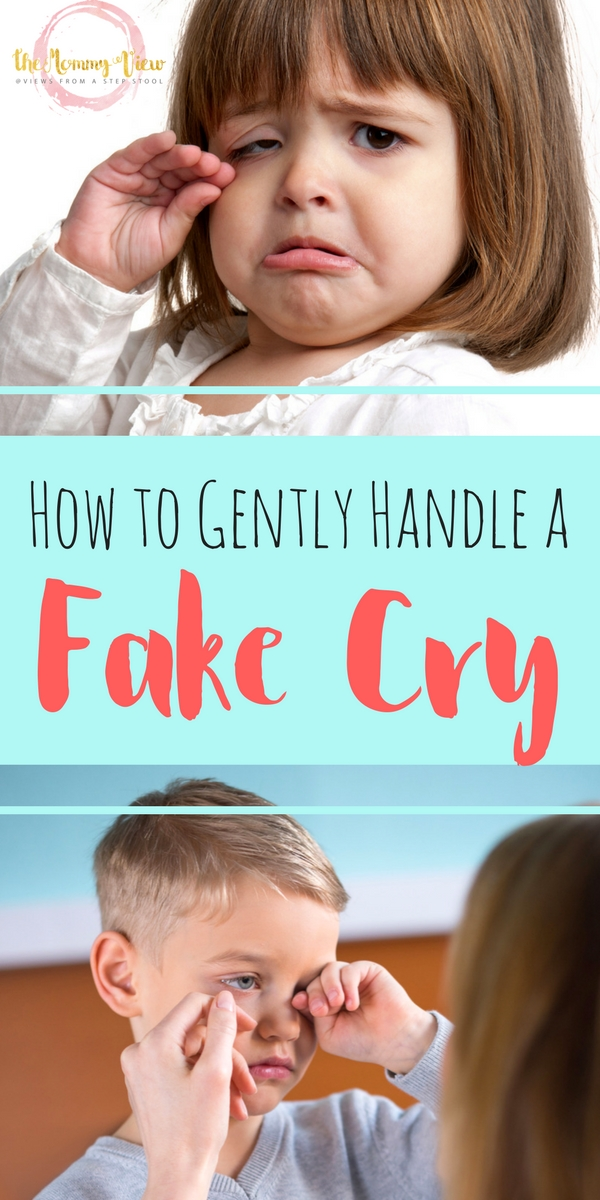 Kids will fake cry to get what they want. But we can reframe this misconception to see a fake cry as communication, and can therefore help with emotion expression.