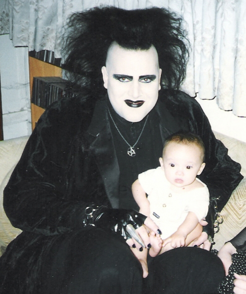 Robert Smith Cure with Baby