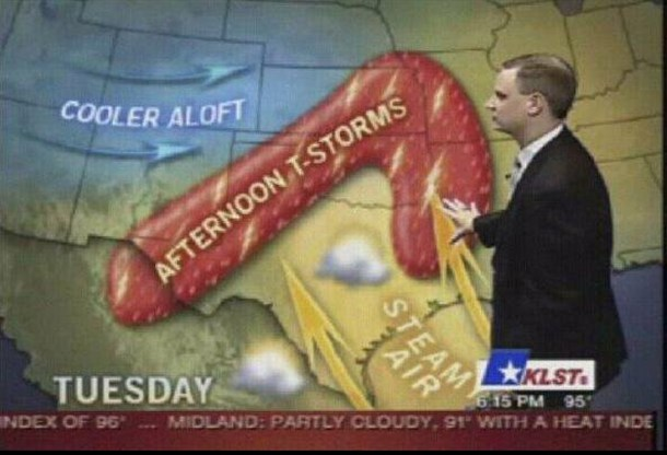 Dirty weather map
