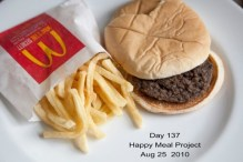Picture of a Happy Meal after 137 Days Exposed to the Elements