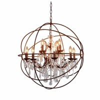 12 Best Collection of Globe Crystal Chandelier