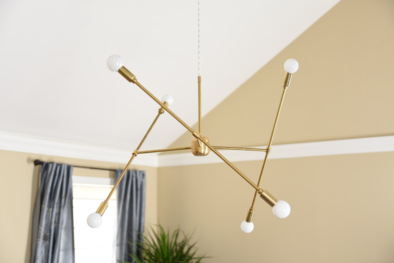 Modern Hanging Lights 12 Best Collection Of Gold Modern Chandelier