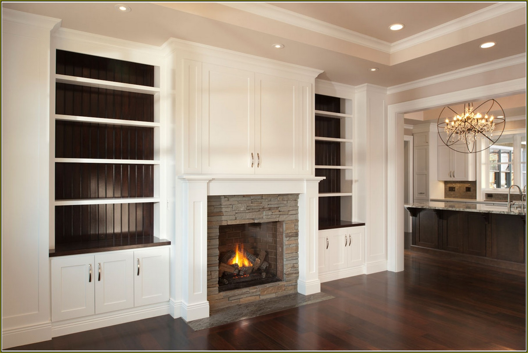 Built In Bookshelves Around Fireplace 15 Best Of Built In Bookcases With Tv