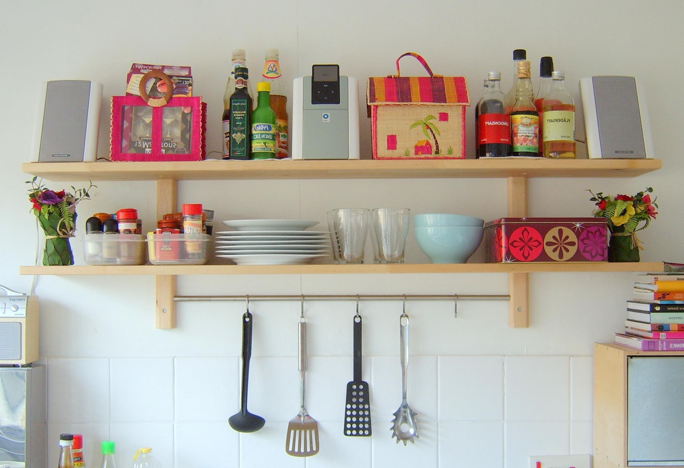 Shelves On The Wall 12 Best Collection Of Kitchen Wall Shelves